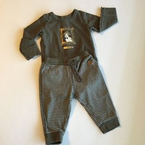 Baby GAP Olive Green knit Dog Outfit Size 6-12M